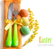 Easter table setting Royalty Free Stock Images