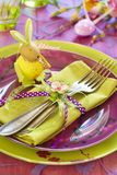 Easter tableware Stock Image