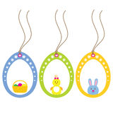 Easter tags Stock Image