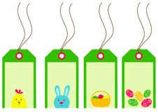Easter tags collection Stock Image