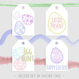 Easter tags collection Royalty Free Stock Photography