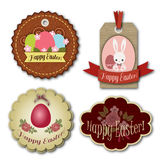 Easter tags and stickers Stock Images
