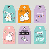 Easter tags Stock Images