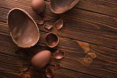 Easter Tasty Chocolate Egg Stock Images