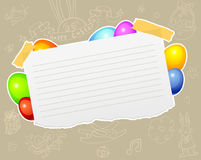 Easter template Royalty Free Stock Images