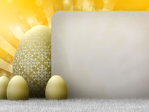 Easter template Stock Images