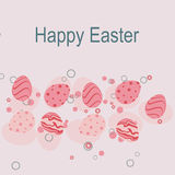 Easter template card Royalty Free Stock Images