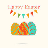 Easter template card Stock Images