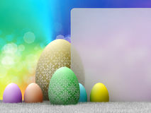 Easter - template design; easter eggs Royalty Free Stock Photo