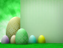Easter template design - easter eggs Royalty Free Stock Image