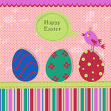 Easter template greeting card Stock Photography
