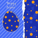Easter template greeting card Stock Photo