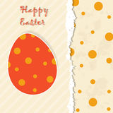 Easter template greeting card Stock Images