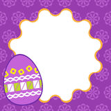 Easter template in square size Stock Photography