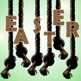 Easter text Royalty Free Stock Images