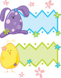 Easter Text Panels Stock Photography