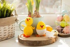 Easter textile basket stock image