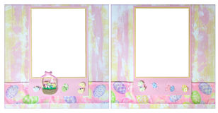 Easter Theme 12 X 12 Digital Scrapbook Layout. Easter Theme 12 X 12  Scrapbook Layout Perfect for Online Digital Scrapbooking Stock Images