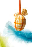Easter theme. Picture of an easter egg isolated on white Royalty Free Stock Photo