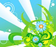 Easter theme. Abstract background with spring elements Stock Images