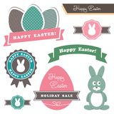 Easter theme design elements Royalty Free Stock Image