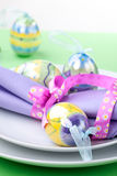 Easter theme table setting Stock Images