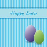 Easter theme with two eggs Stock Image