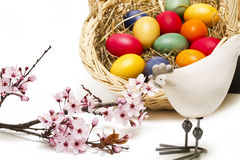 Easter theme on white Stock Photography