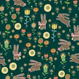 Easter themed  seamless pattern background Stock Photo