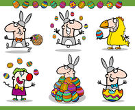 Easter themes set cartoon illustration Royalty Free Stock Photography