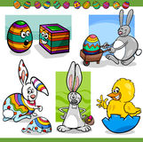 Easter themes set cartoon illustration Stock Photo