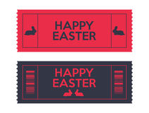 Easter tickets. Admit one Easter tickets with a special rabbit design, vector design, eps10 Stock Photography