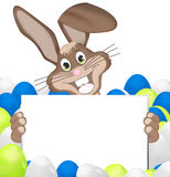 Easter Time. Blank board easter design Stock Photography