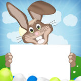 Easter Time blank white board. Easter Time Fresh Creative Design Stock Image