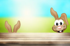 Easter Time Blue Sky Green Outdoor. Graphic illustration Royalty Free Stock Images