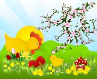 Easter time, cdr vector Royalty Free Stock Image
