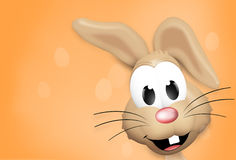 Easter Time Easter Bunny Eggs. Graphic Illustration Stock Photos
