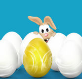 Easter Time Easter Bunny Eggs. Graphic Illustration design Royalty Free Stock Photography