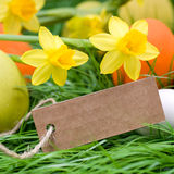 Easter time, label Stock Photo