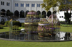 EASTER IN TIVOLI GARDEN FULL WITH EASTER EGGS AND TULIPS Royalty Free Stock Photography