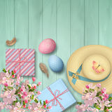 Easter Top View Background royalty free illustration