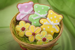 Easter traditional Gingerbread cookies Stock Photography