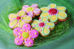 Easter traditional Gingerbread cookies Royalty Free Stock Images