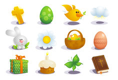 Easter traditional symbols. Royalty Free Stock Images
