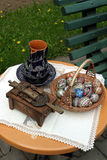Easter traditional tabel Stock Image