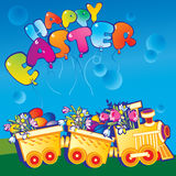 Easter train. Royalty Free Stock Images