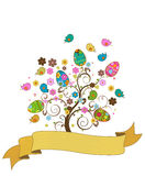 Easter tree. Retro style illustration Stock Photo