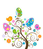 Easter tree stock illustration