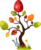 Easter tree. Vector illustration of a cute easter tree Royalty Free Stock Photos