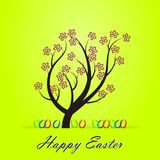 Easter tree. With Easter eggs and spring flowers Royalty Free Stock Photos